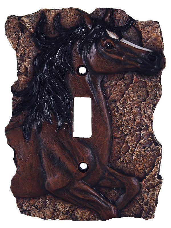 3d Horse Motif Double Light Switch Cover Is Functional And Beautiful