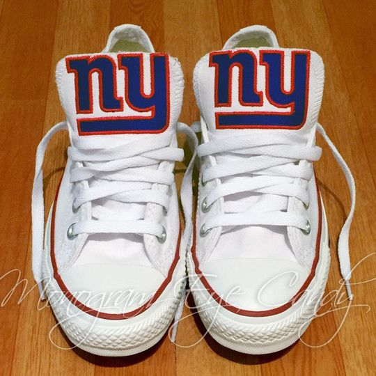 cb4672f34 Customized Converse Sneakers- NY Giants Edition – Monogram Eye Candy