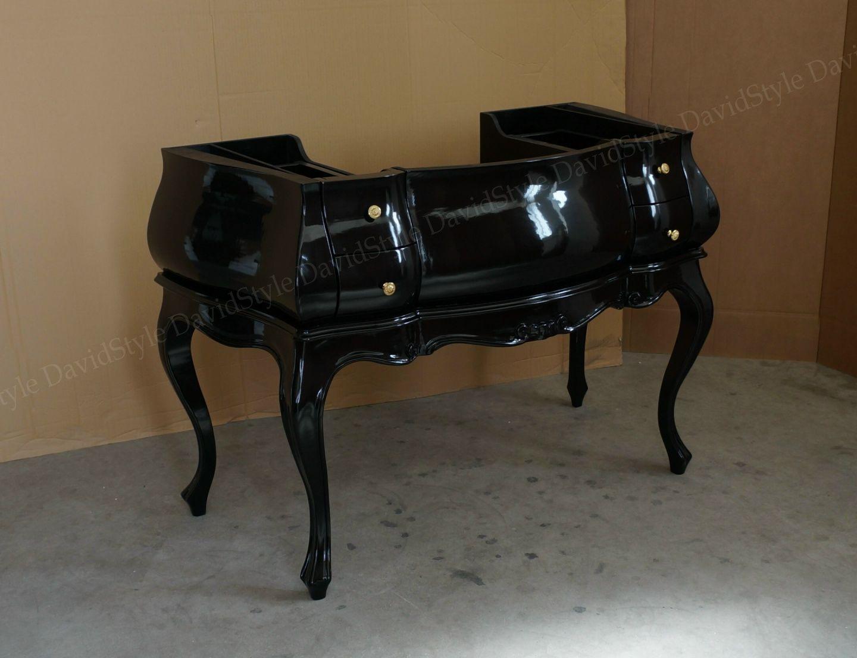Bagno Barocco ~ Bagno barocco nero lucido baroque bathroom cabinet made in italy