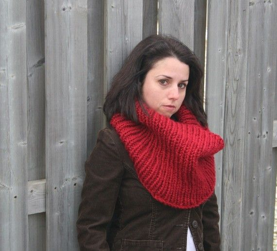 The Algoma Knit Thermal in Cranberry by grizzlie on Etsy, $48.00