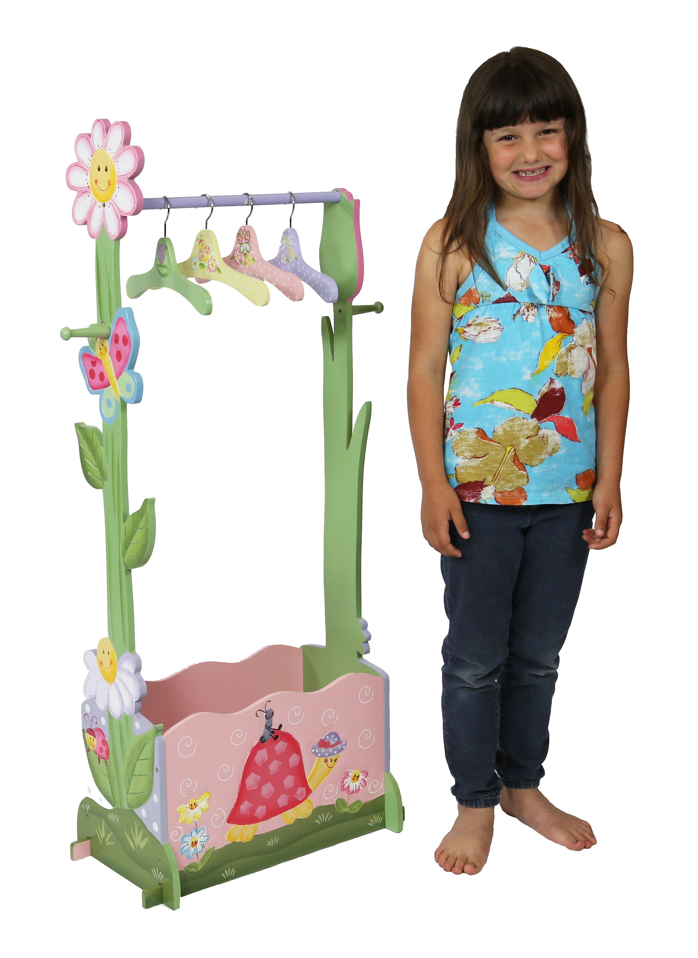 Romantic Flair Original - Magic Garden Clothing Rack with 4 Hangers by Teamson