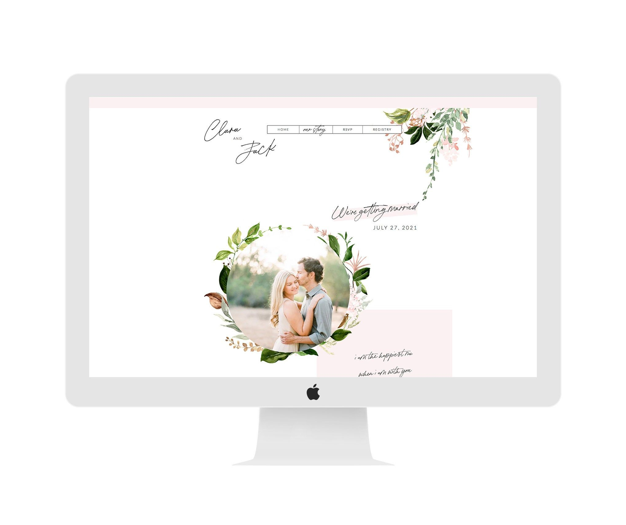 Wix Wedding Website, Wedding RSVP Invitation Website, Wix