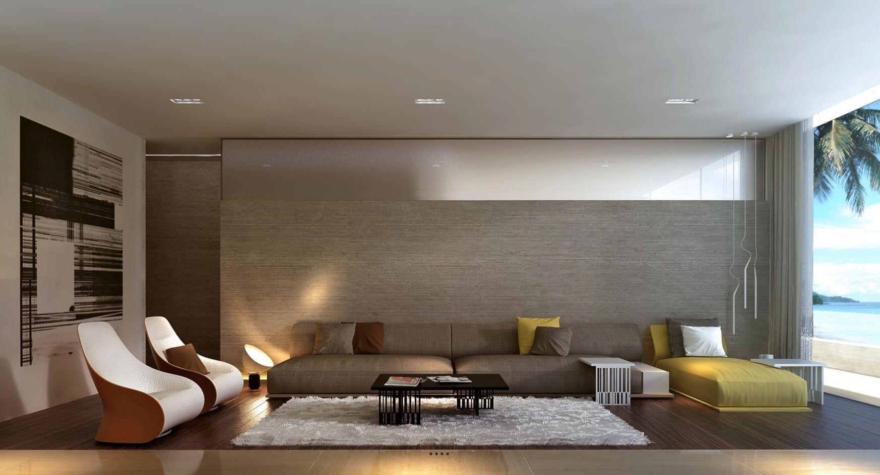 Living Room Sleek Simple Luxury Low Ground Bit Mustard Yellow