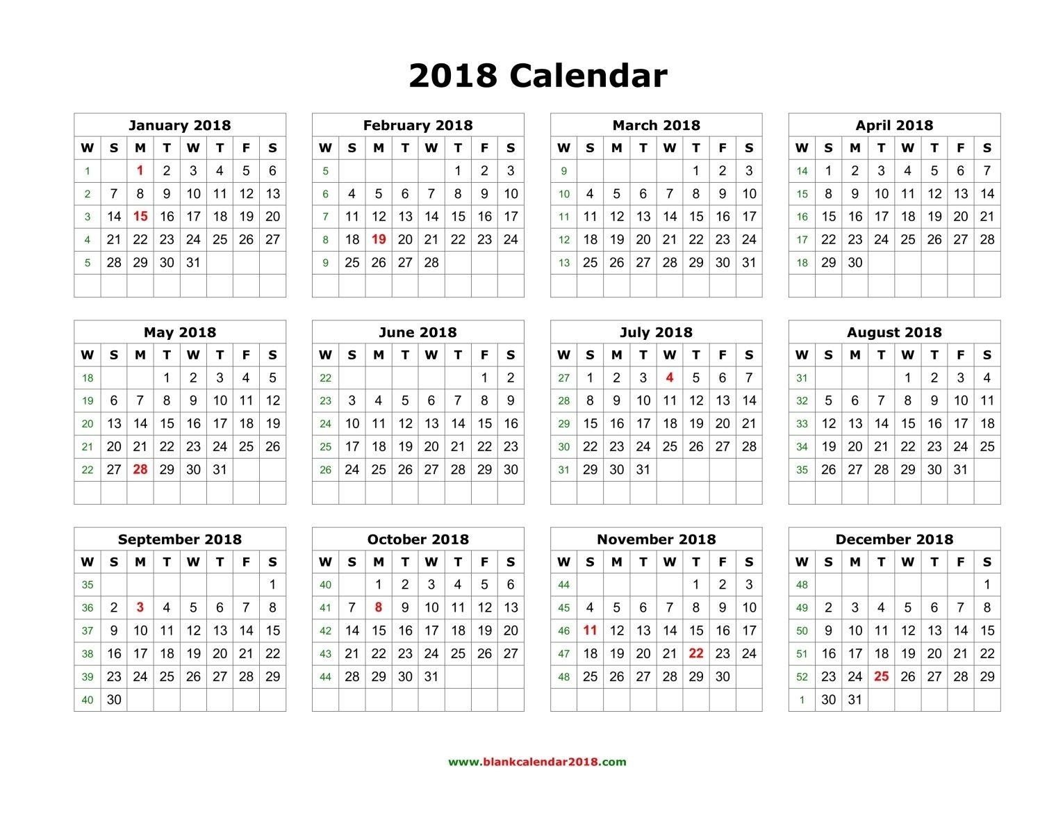 Year Calendar Print Out : Calendar printable yearly blank