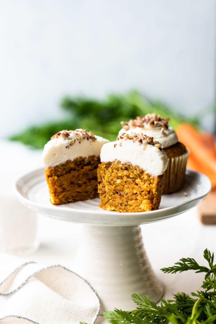 Carrot cake cupcakes vegan kitchen confidante