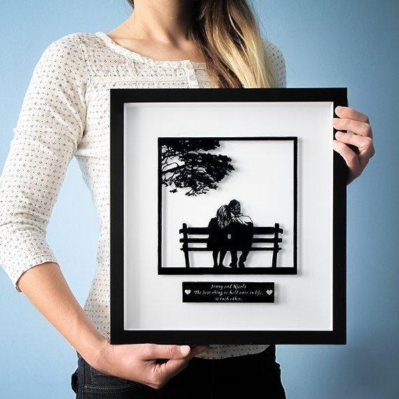 Personalized Gift / Wedding Gift / Anniversary Gift / Gift for Couple / Paper Anniversary Gift / First Anniversary Gift / Paper Cut Art