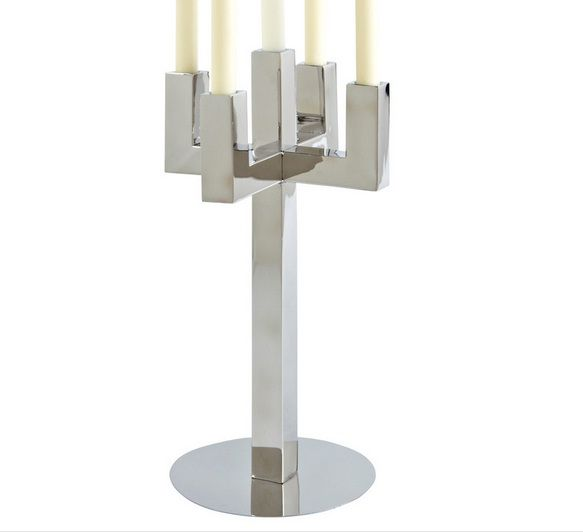 Another 5 Light Candelabra In Steel