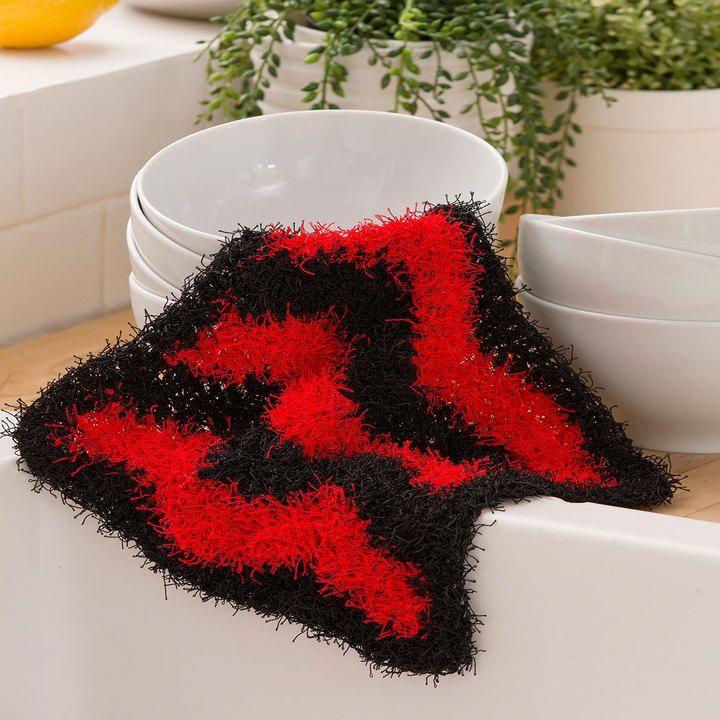 Chevron Crochet Scrubbie   Jardinería