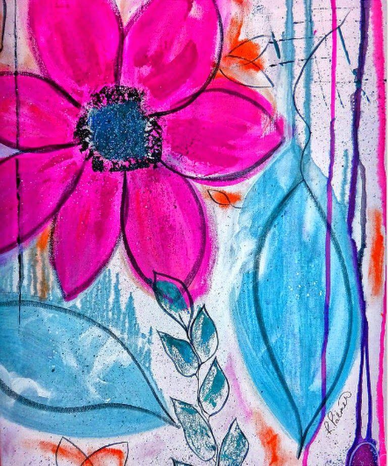Pinturas Flores Abstractas Modernas Flores Abstractas Abstracto Arte En Lienzo Para Las Paredes