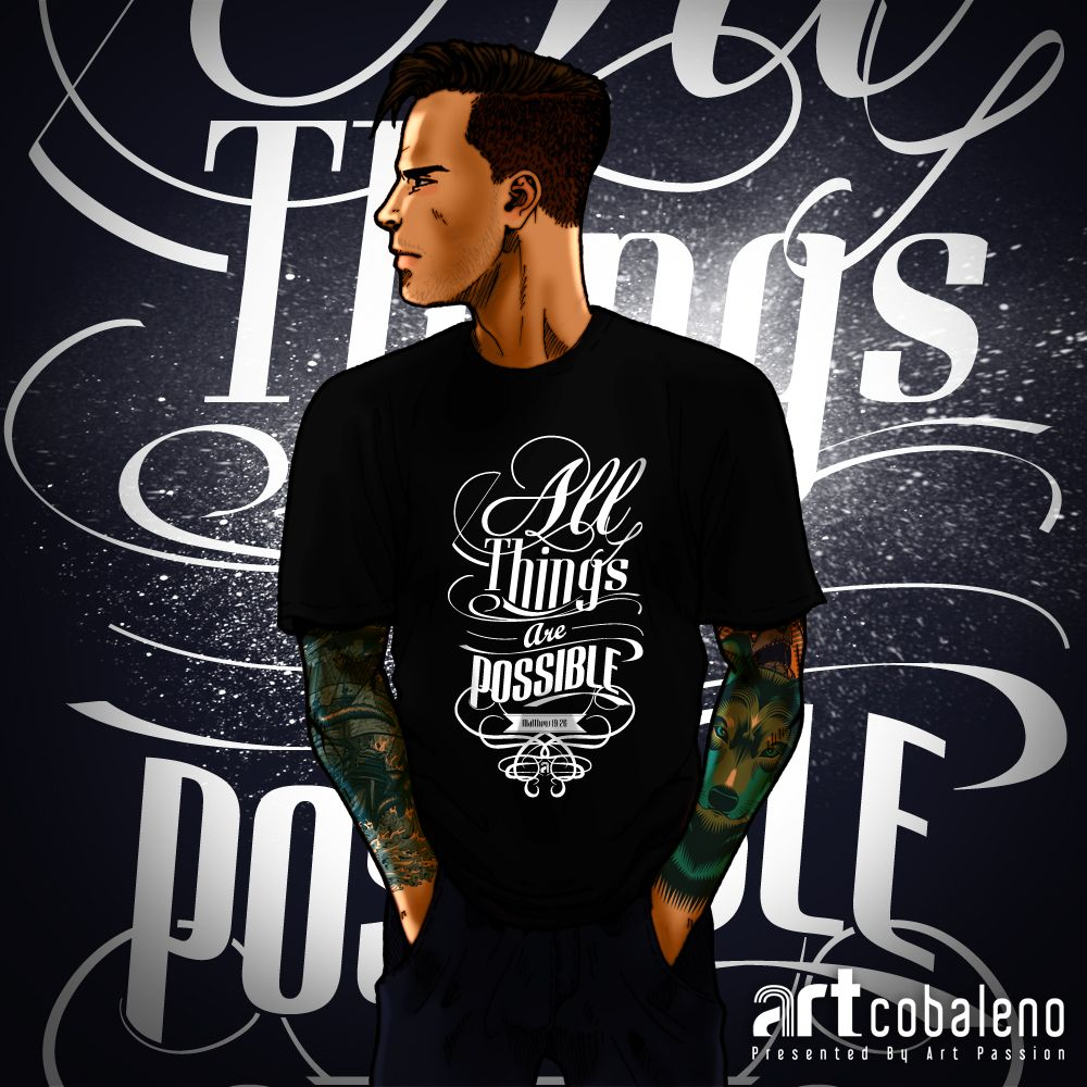 All things are possible t shirt typography glow in the dark made all things are possible t shirt typography glow in the dark made by artcobaleno gamestrikefo Image collections