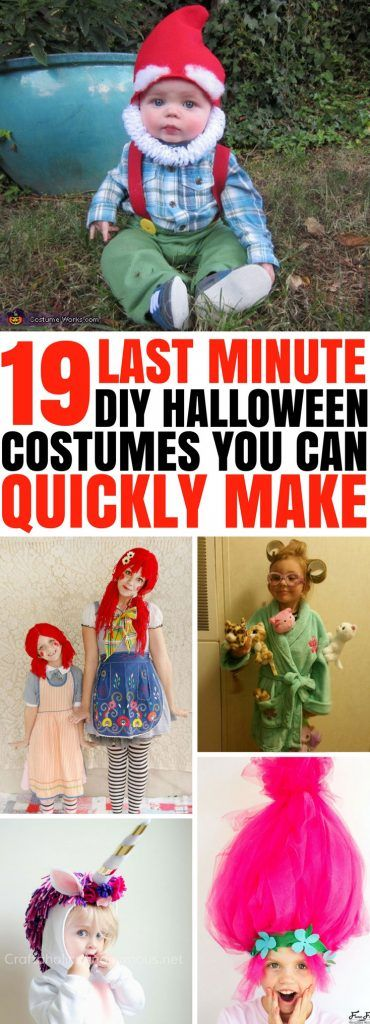 19 Last Minute Awesome DIY Halloween Costumes You Can Quickly Make - top last minute halloween costume ideas