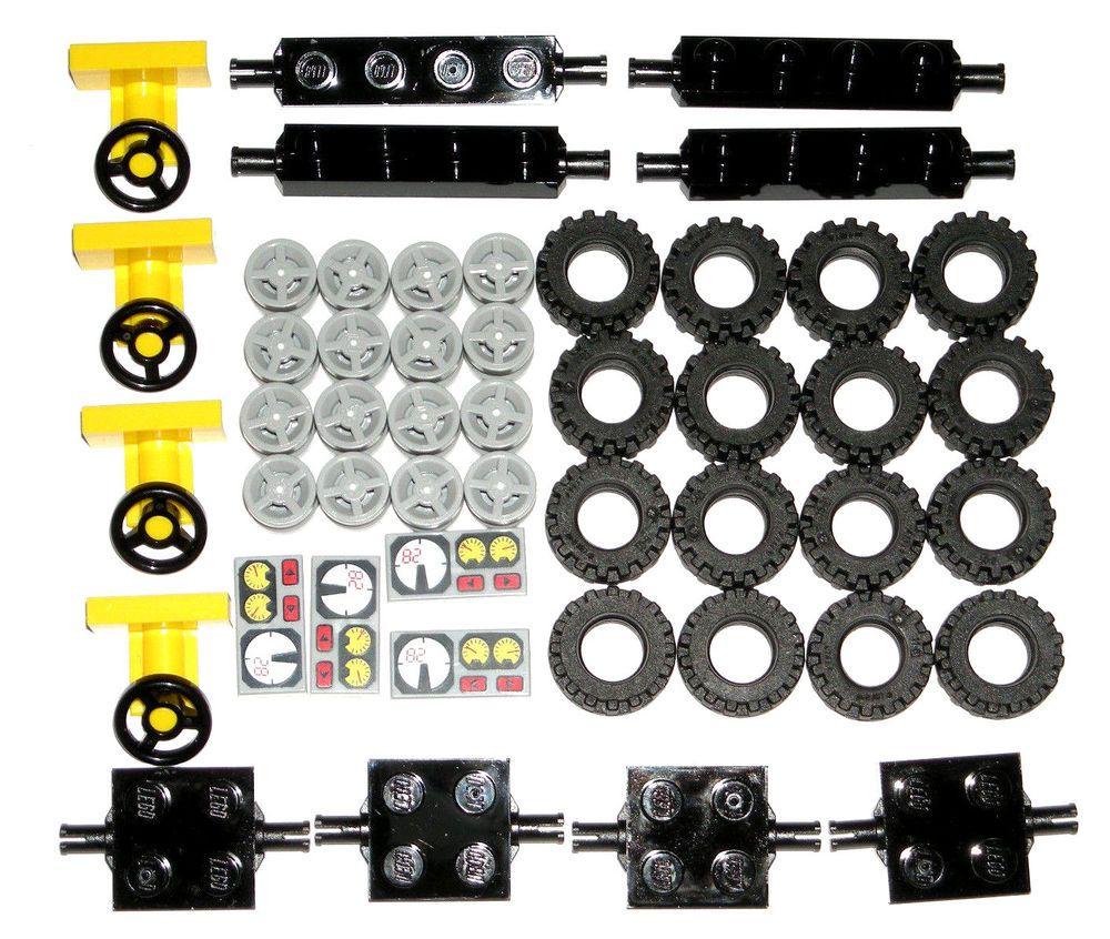 Lego 1 Black vehicle base 4x7 car truck NEW
