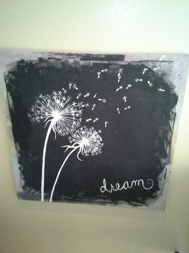 Repainted Amp Repurposed Canvas Diy Projects Dandelion