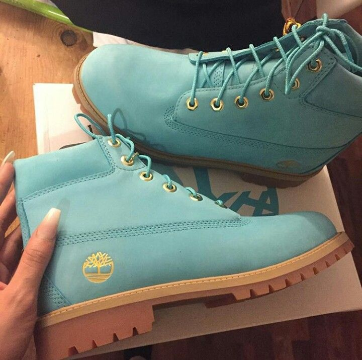 Like what you see⁉ Follow me on Pinterest ✨: @joyceejoseph ~  Tiffany Blue Timberlands #Tims