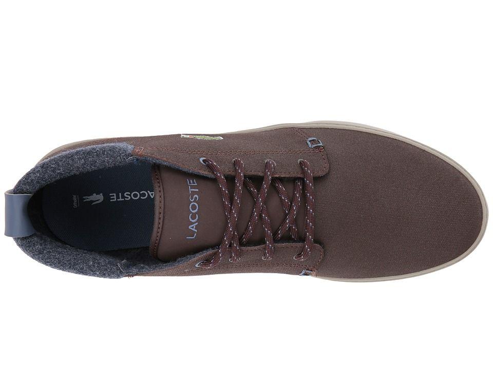23c4a9f573b4f Lacoste Ampthill Terra 417 1 Cam Men s Shoes Dark Brown
