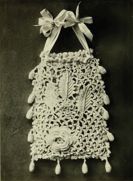 Pretty Irish Crochet Bag Purse Vintage Crochet Pattern To Purchase