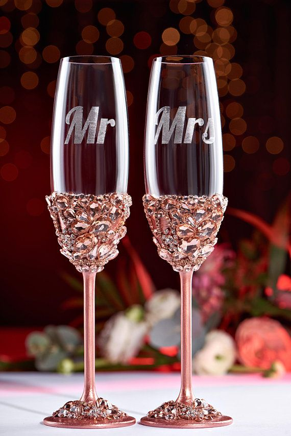 Personalized Wedding Glasses Wedding Champagne Glasses Toasting