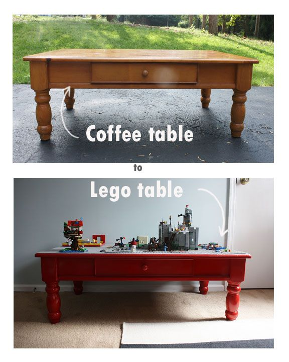 Weekend project- Lego table | Legos, Command strips and Playrooms