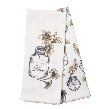 Better Homes Gardens Rustic Blossoms Kitchen Towels Set Of 2