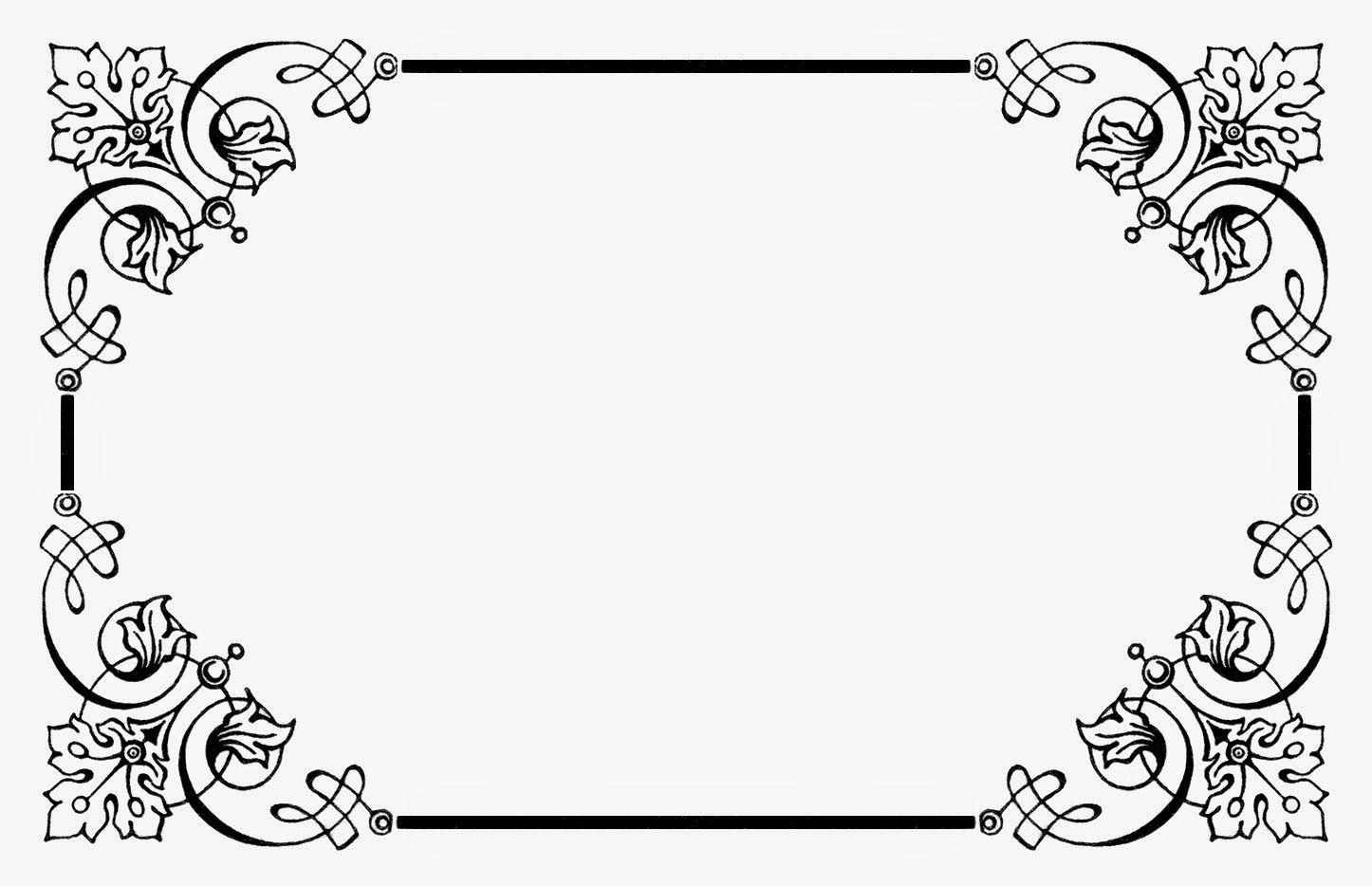 Image Result For Bingkai Cantik Clip Art Vintage Desain Bingkai Doodle Frames