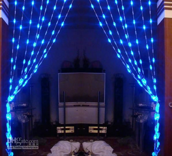 Wholesale Bead Curtain - Buy 72 LED Blue Heart-shaped Crystal Bead
