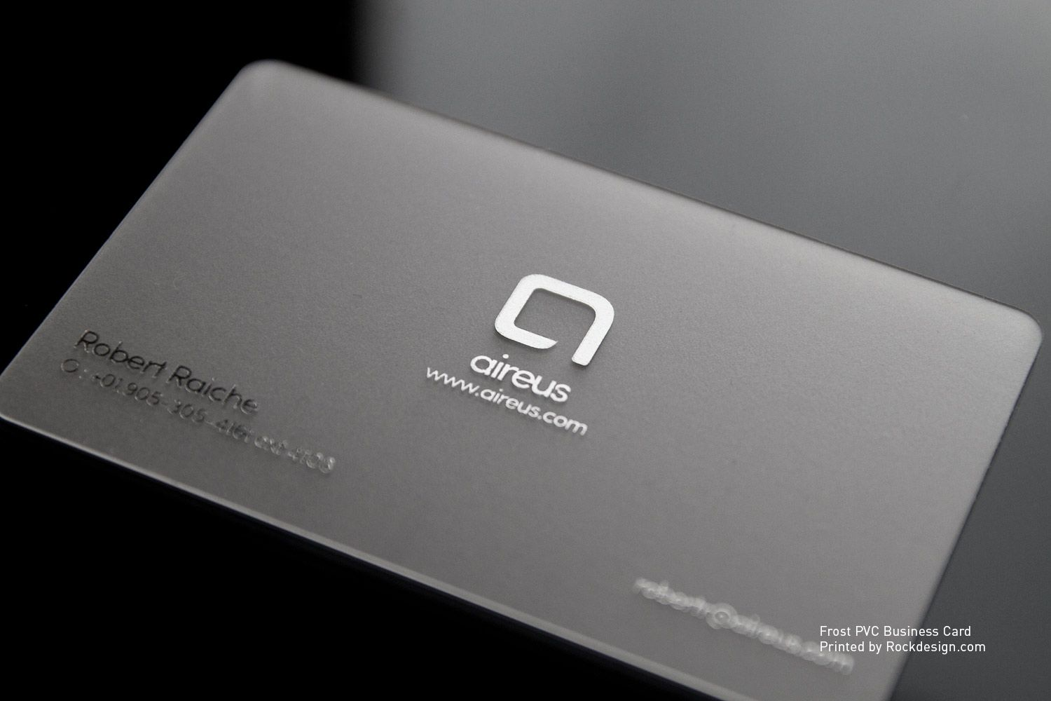 RockDesign.com | Plastic Business Cards | Frost PVC Business Card ...