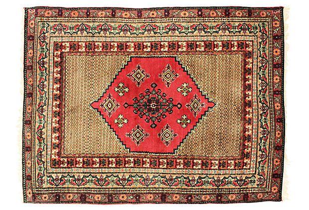 "Semi-Antique Kashan Rug, 8'9"" x 6'5"" on OneKingsLane.com"