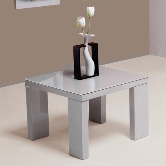 Escalade High Gloss Grey Side Table £179 #furniture #lounge #home #decor  #livingroom #interior #highgloss #flowers #plant #sidetable #table