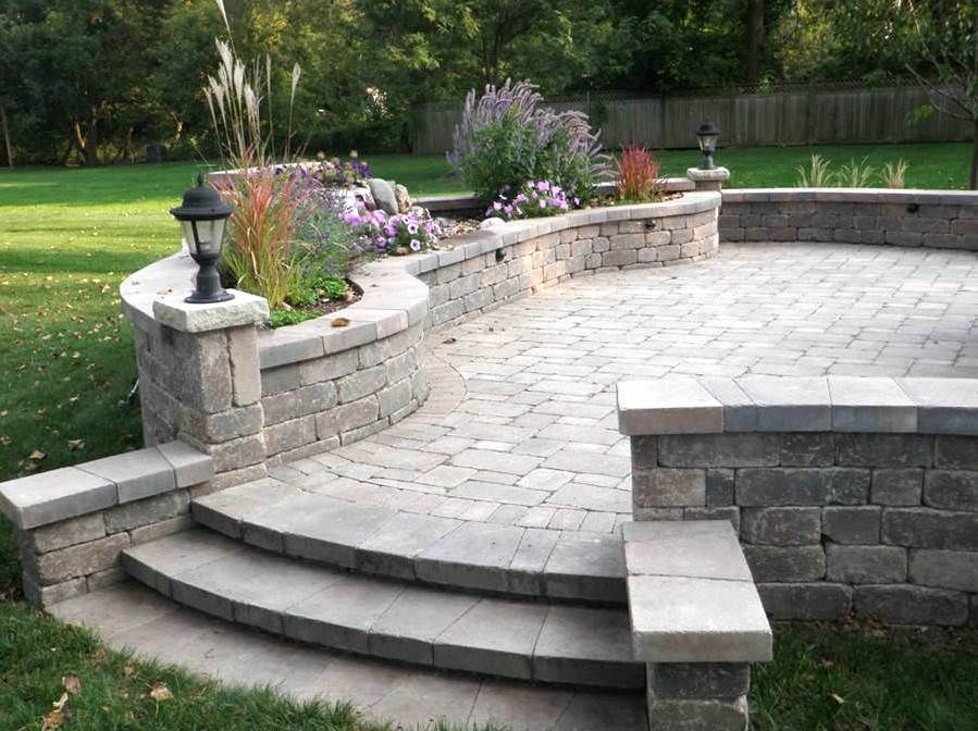 Amazing Pavestone Patio W/lighting