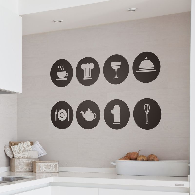 Pictogramas - VINILOS DECORATIVOS Wall inspiration Pinterest - wandtatoos für küche