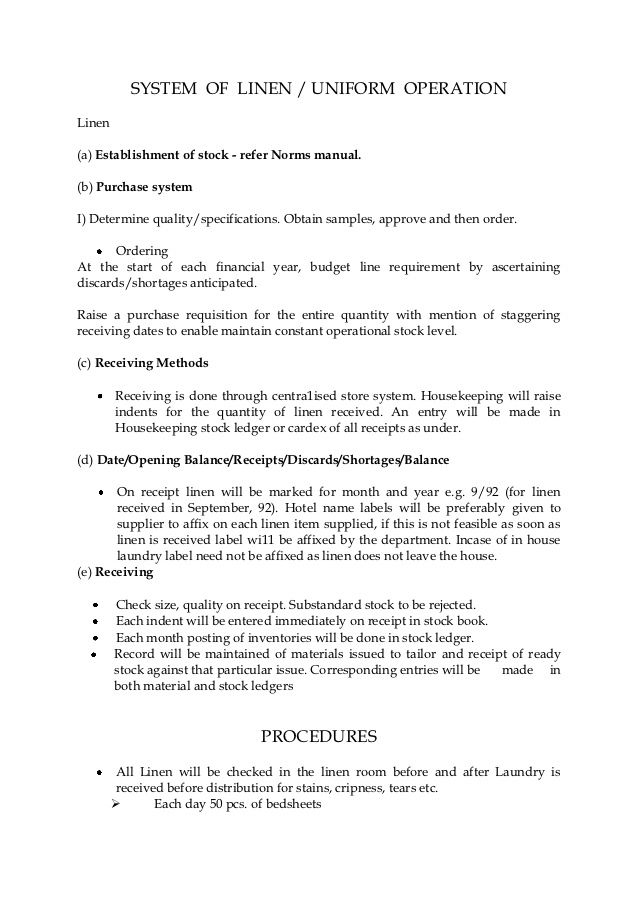 System Linen Uniform Operation Housing Tax Credit Application