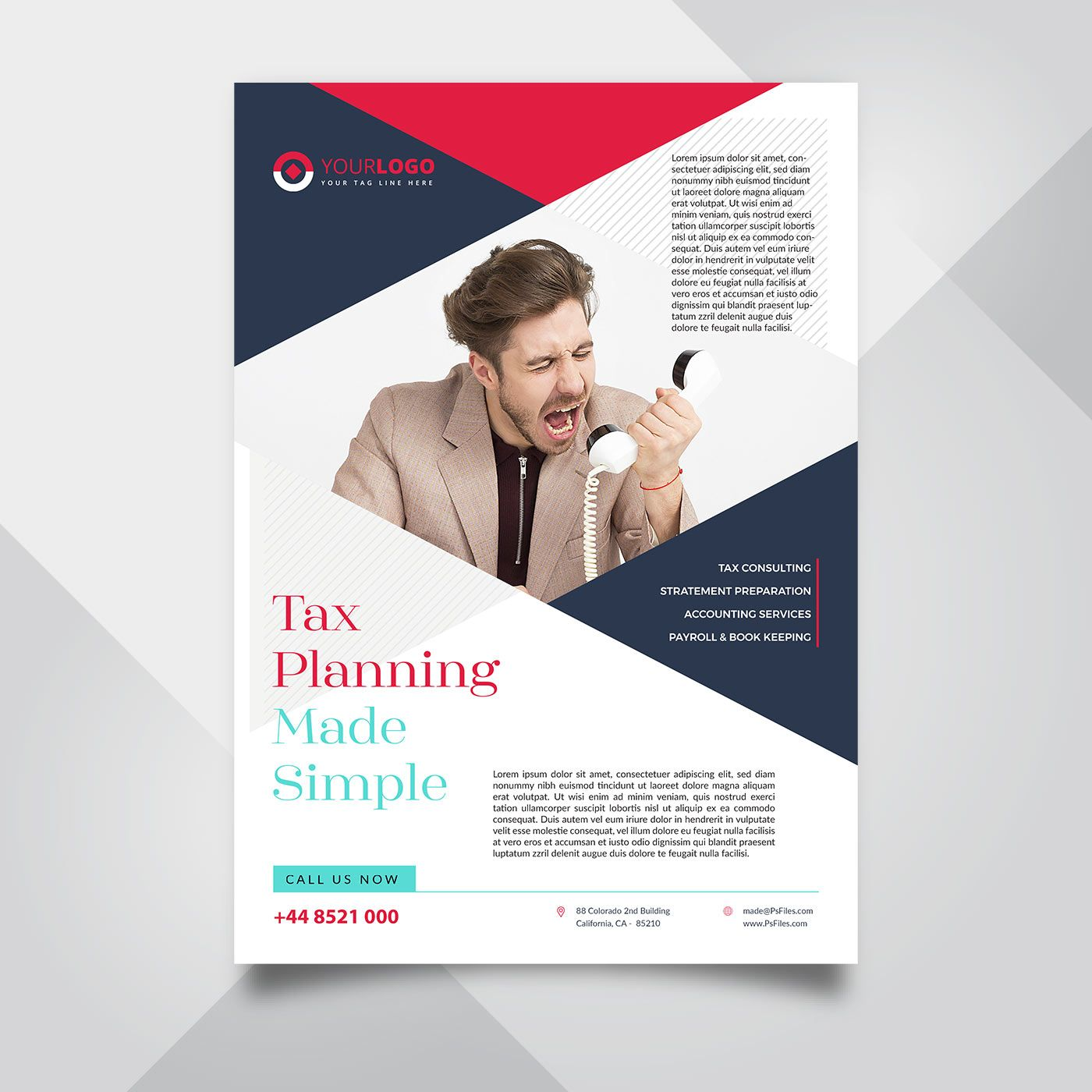 Tax Service Flyer Template In Psd Free Psd Flyer Templates Psd Flyer Templates Free Psd Flyer