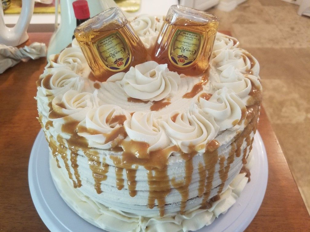 Crown Royal Cake Marble Cake With Crown Royal Buttercream Caramel Alcohol Cake Cupcake Cakes Birthday Cakes For Men