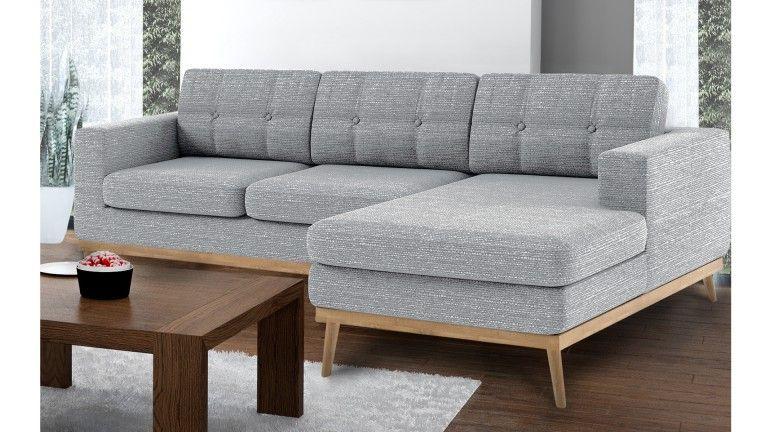 Canapé d angle capitonné style scandinave en tissu Tolbon