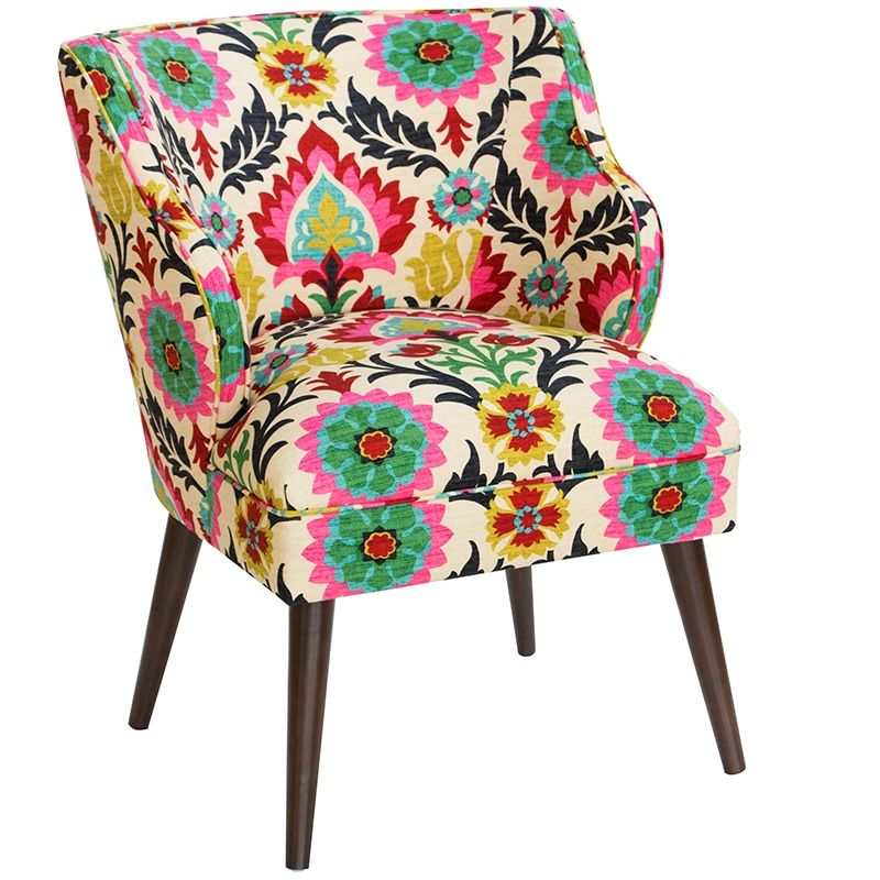 Skyline Furniture Chair In Santa Maria Desert Flower Multicolor Pcrichard Com 961sntmrdsrf In 2021 Upholstered Chairs Vintage Dining Chairs Living Room Chairs Santa maria desert flower chair
