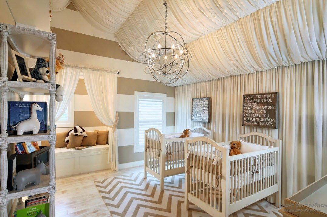Дизайн потолка в детской комнате: варианты оформления ...
