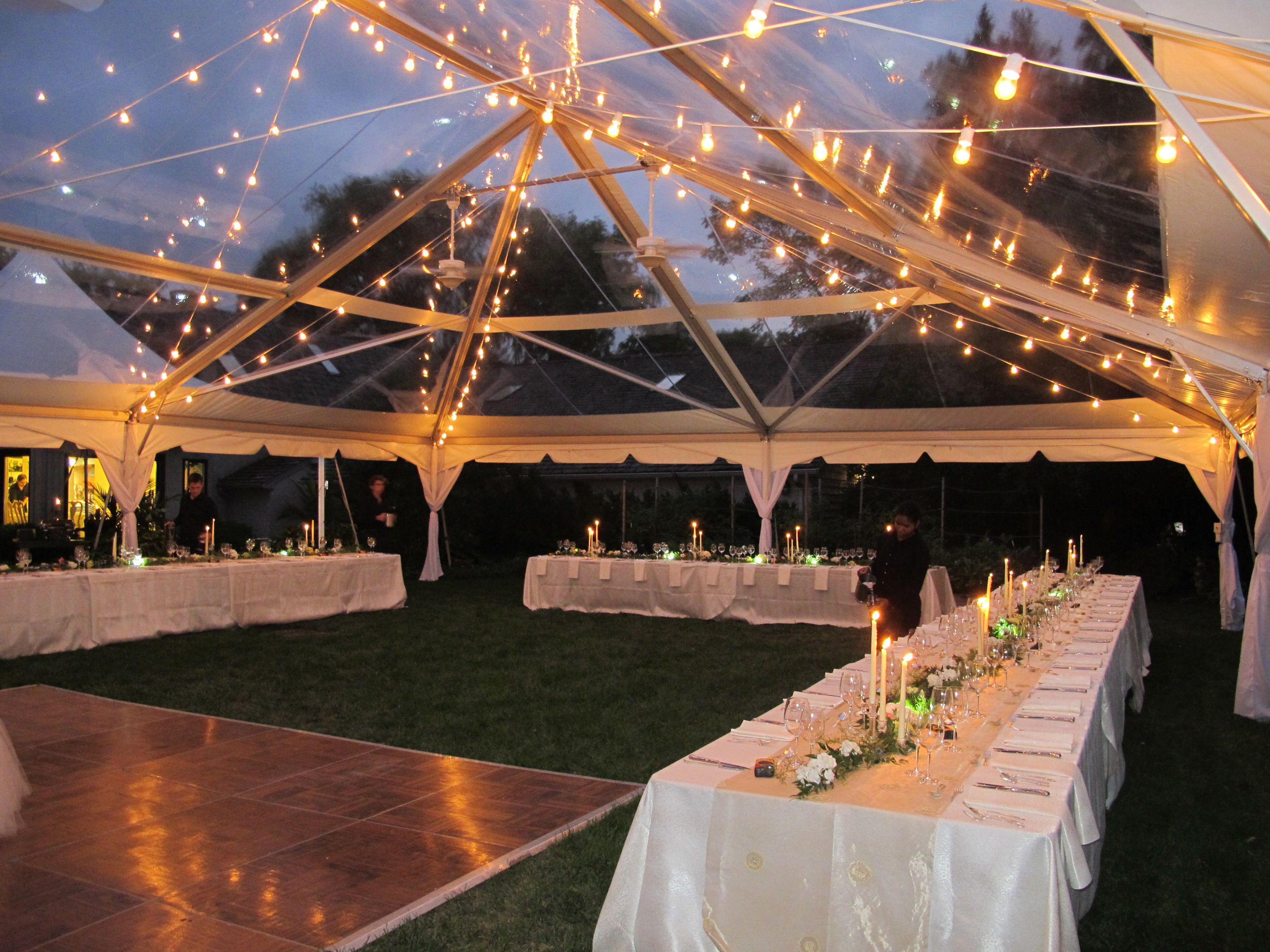 Italian bistro cafe string light rental for wedding reception in - We Put Up This Clear Top Tent With Clear Walls For A Memorial Event Description Tent Lightingwedding Lightingcafe