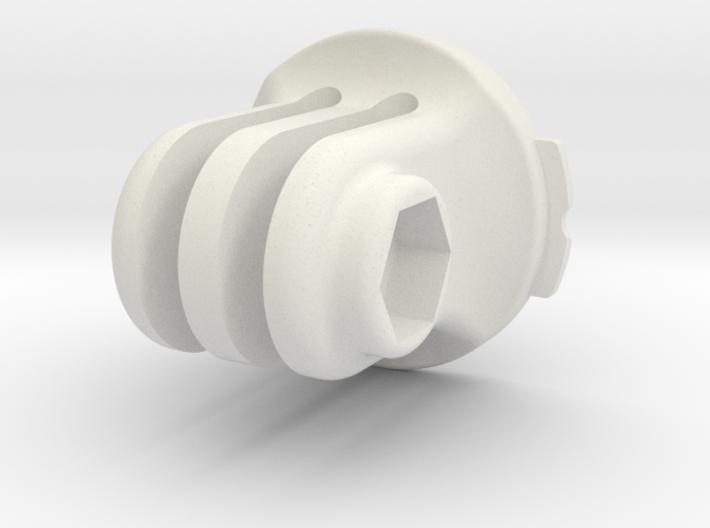 Gopro Triple Mount For Garmin Quarter Turn By Leveragedesign On Shapeways Gopro Garmin Turn Ons