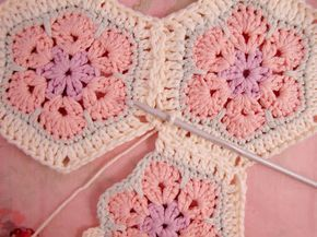 Heidi Bears African Flower Hexagon Join As You Go Tutorial Blanket
