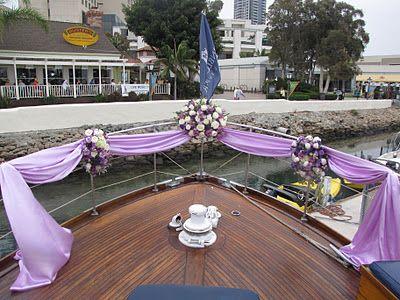 Ceremony On A Boat Ceremony Decor Boat Wedding Yacht