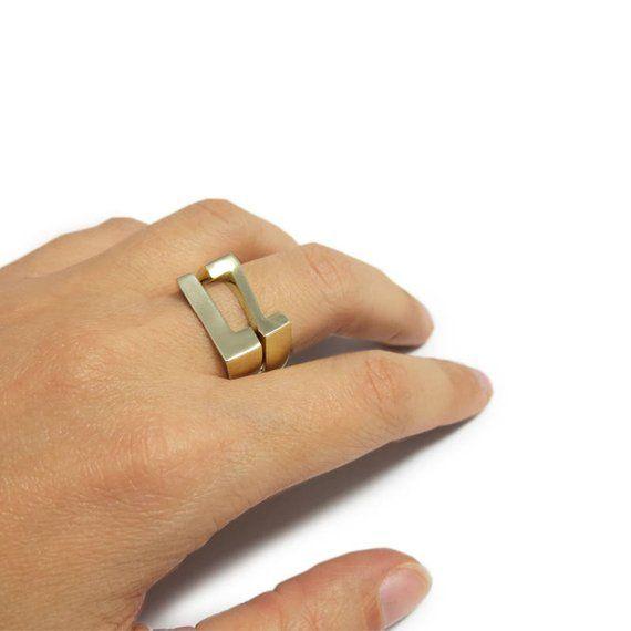 1379e84b8c97b Stacking name rings, Stacking rings gold, Initial gold rings, Custom ...