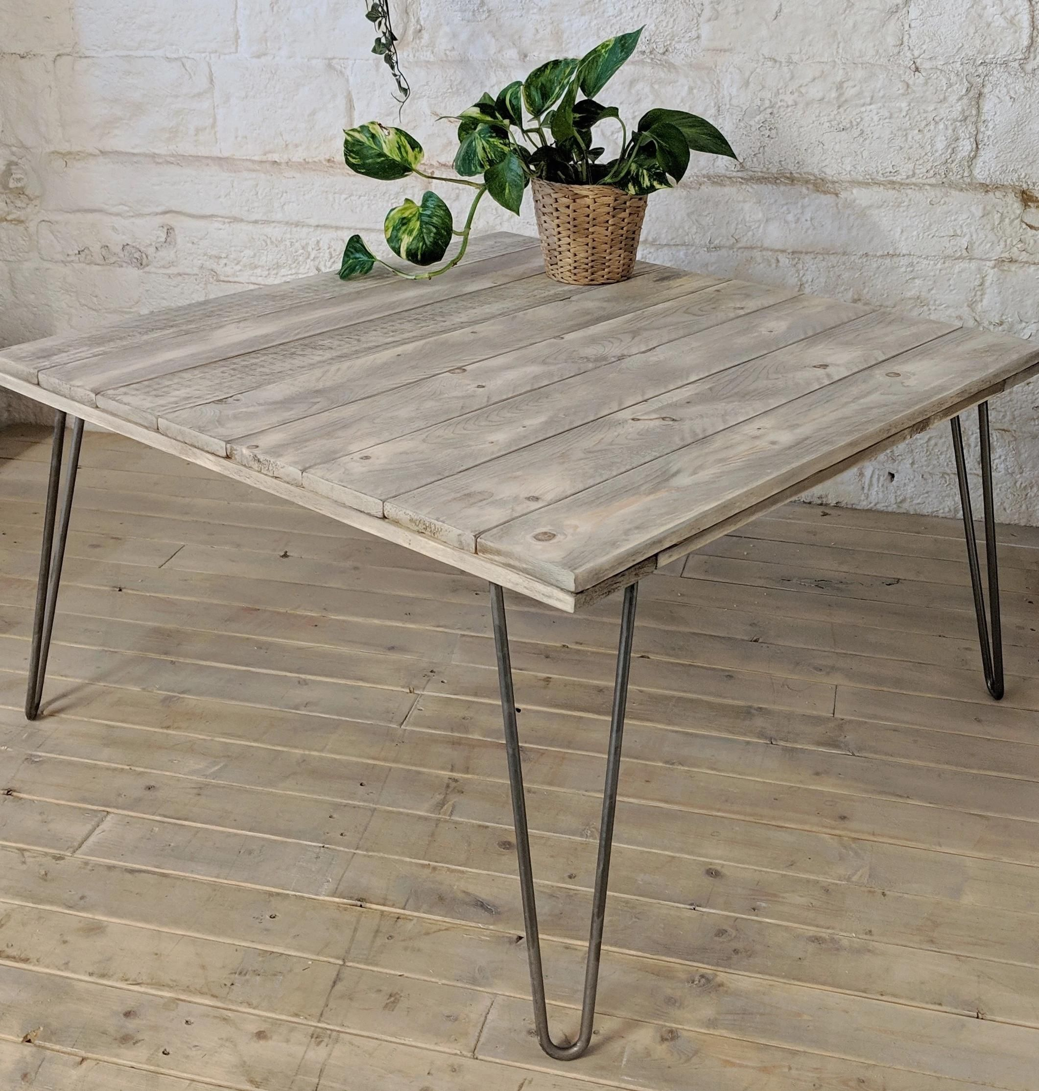 Pohi Pallet Wood Coffee Table Grey Wash Effect With 40cm Hairpin Legs In 2020 Coffee Table Grey Table Wood Pallets