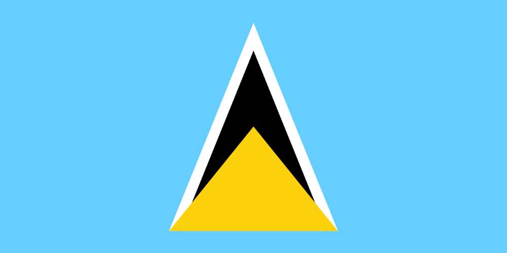 National Flag Of St Lucia Google Search In 2020 St Lucia Flag St Lucia Saint Lucian Flag