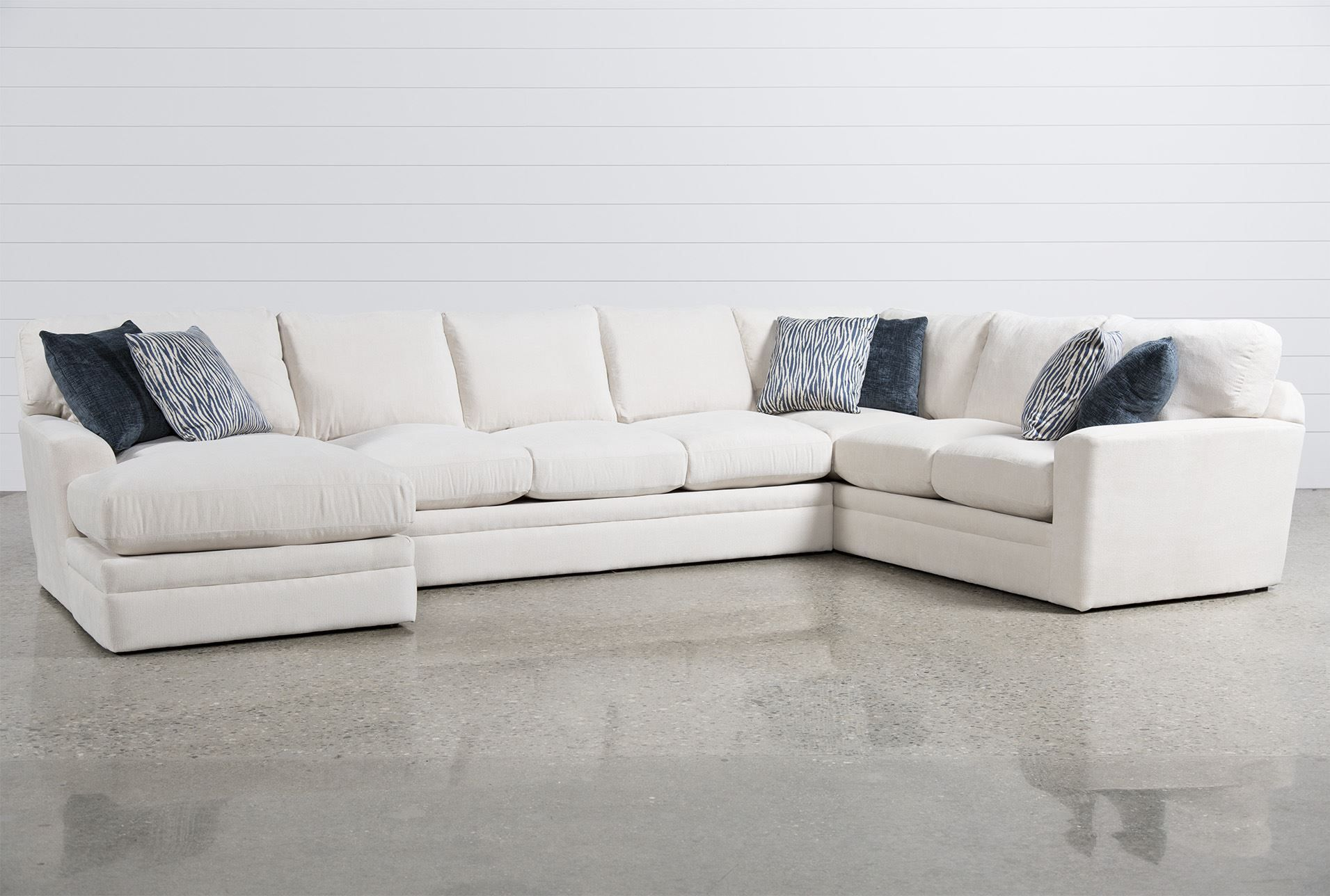 Glamour II 3 Piece Sectional Sofas
