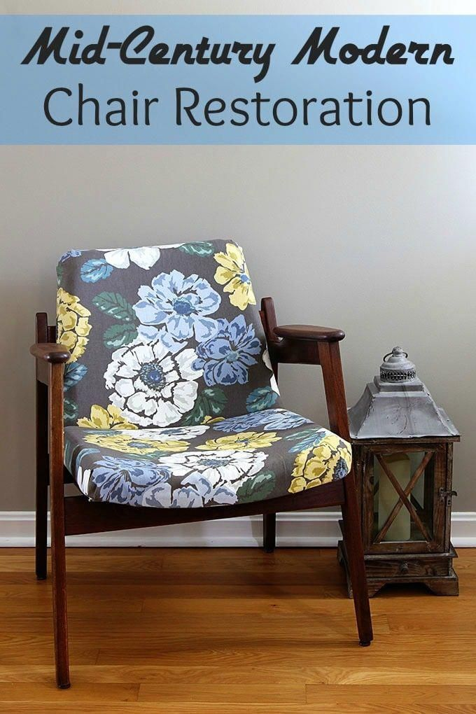 A Fun And Stylish Mid Century Modern Chair Restoration Including