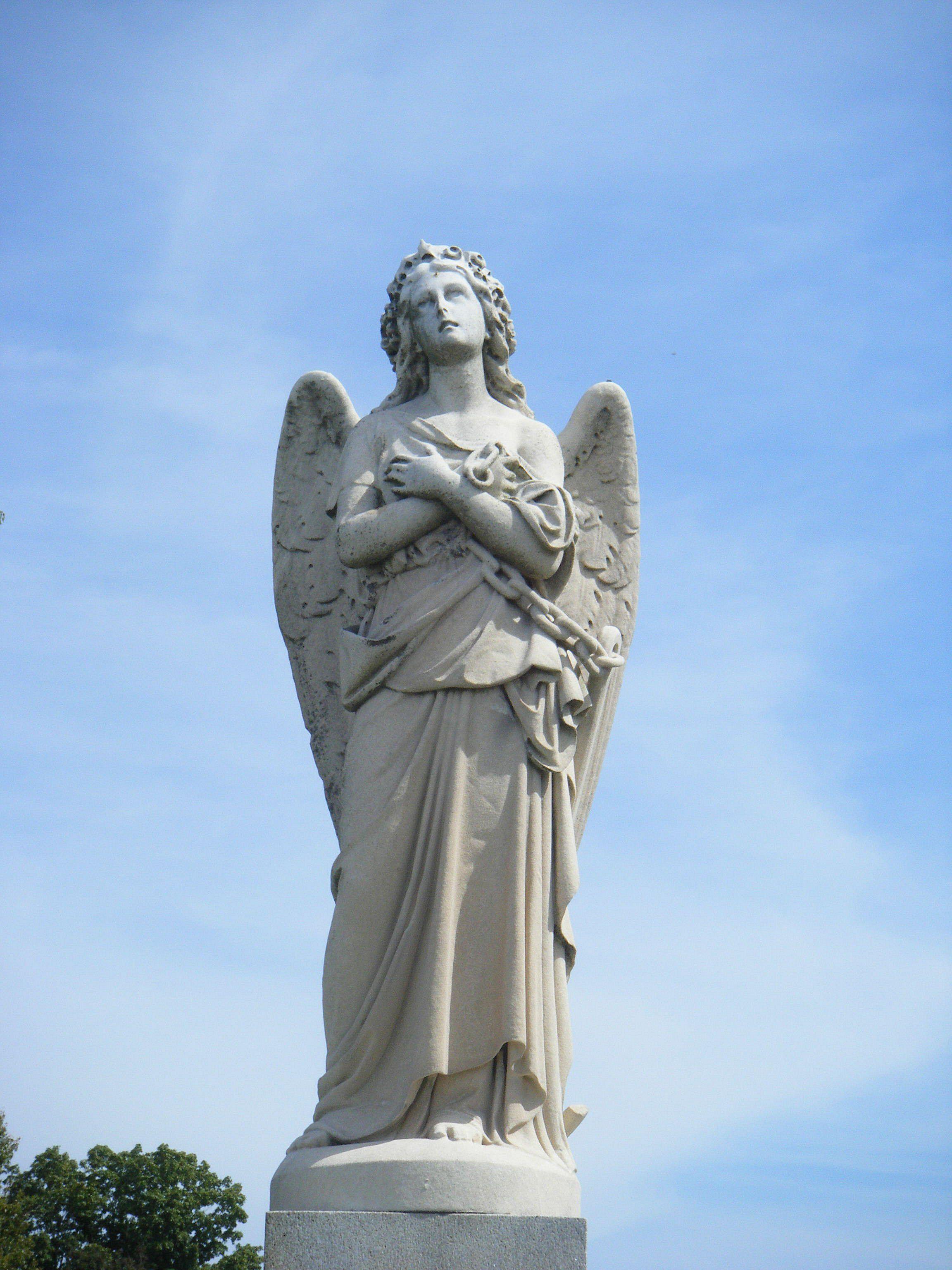 Beautiful Angel Kokomo Indiana Cemetery Angel Sculpture