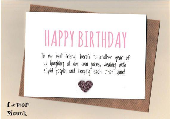 funny best friend birthday card/ bestie / love / friends
