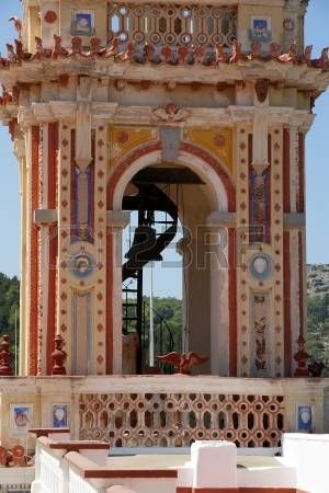 Greek Roof Tiles Panormitis Monastery Symi Island Greece Is The Most Important Place Of Pilgrimage For Whole