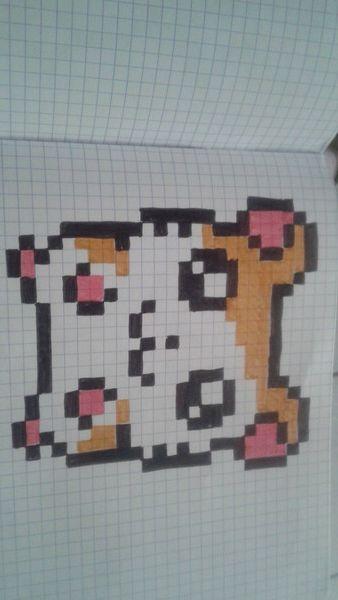Hamtaro Dessin Petit Carreau Dessin Carreau Et Dessin Pixel