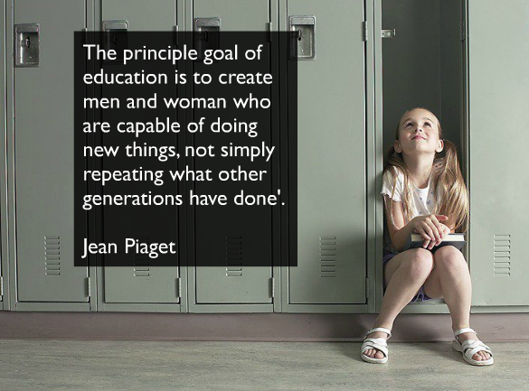 Jean Piaget Quote Are We Forming Children Who Are Only: West Jeff Staff [licensed For Non-commercial Use Only